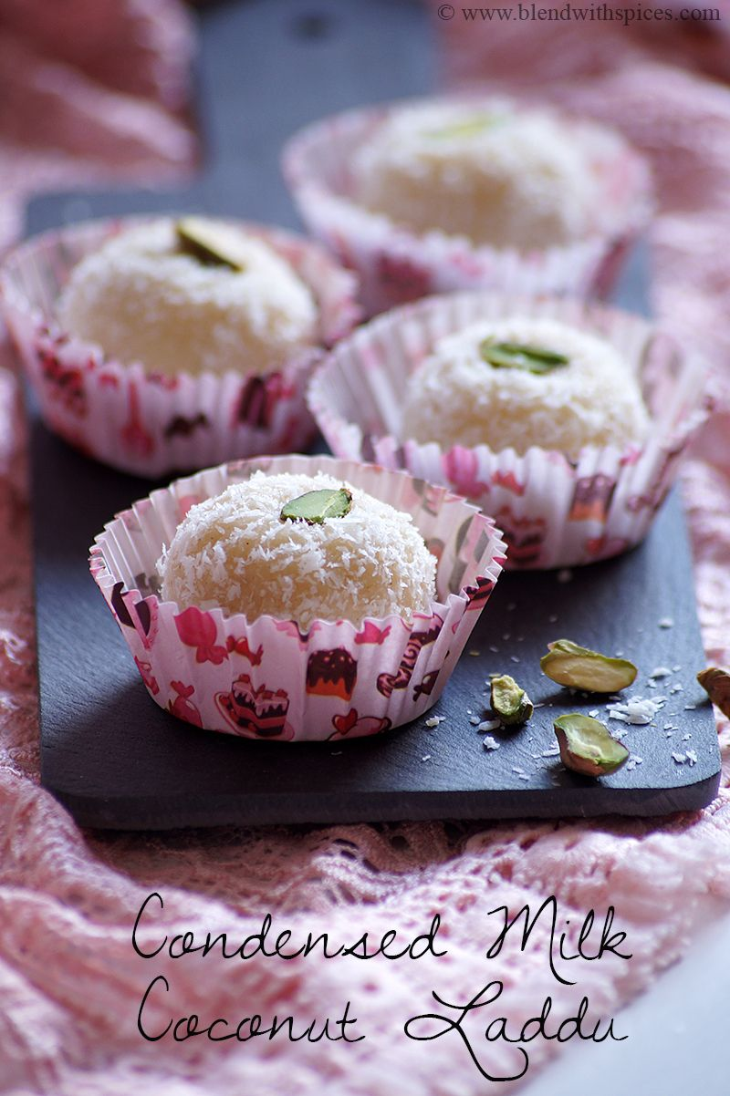 How To Make Coconut Ladoo Recipe With Condensed Milk Easy