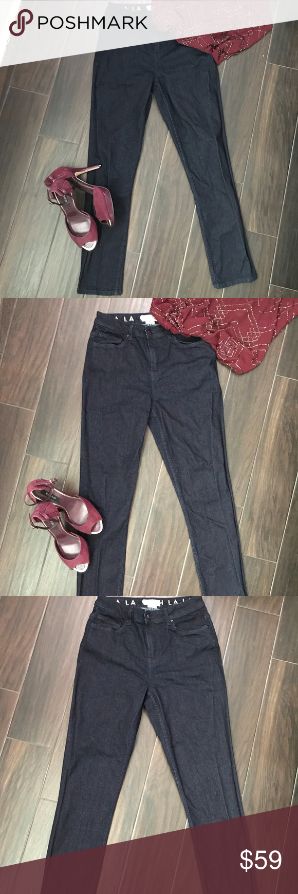 7ec7d916fb2 Kate Spade Dark Blue Broome Street Skinny Jeans 28