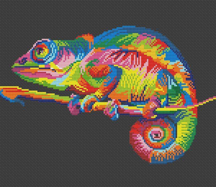 Радужные животные СХЕМЫ 20 фотографий схема вышивки 52
