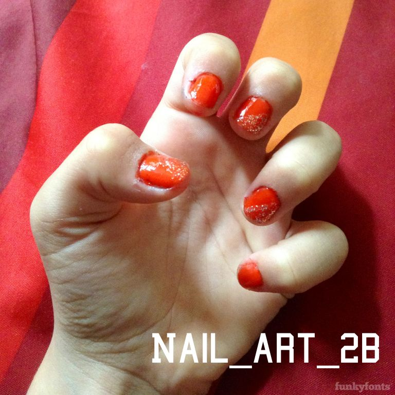 #nail#art#red#paillettes