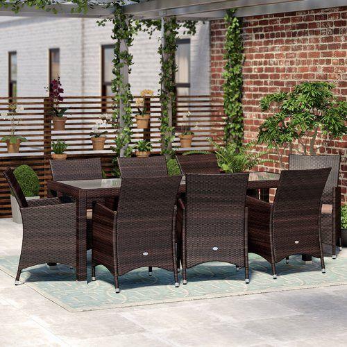 8-Sitzer Gartengarnitur Akebia mit Polster Jetzt bestellen unter