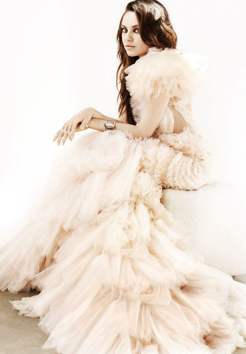 Mila kunis wedding dress  Mila Kunis  LA Confidential Magazine  celebrity wedding dresses