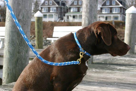 Nautical Dog Collar Rope Dog Collar Handmade Fair Leads