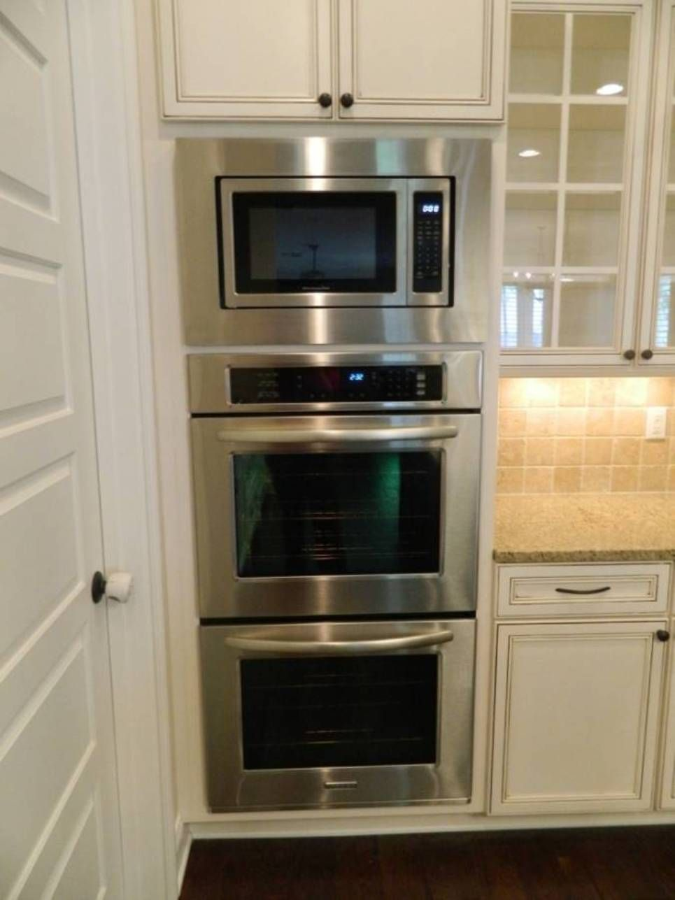 Separate Microwave And Double Oven Double Oven Kitchen