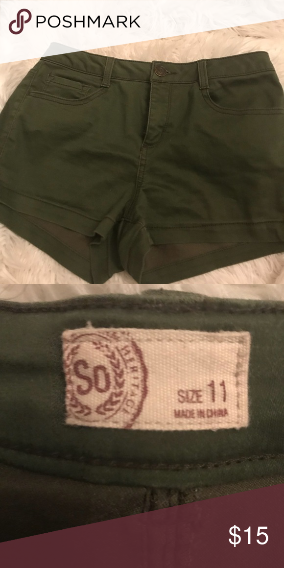 OLIVE GREEN SHORTS! Super cute olive green shorts Brand
