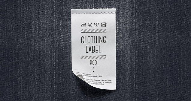 psd clothing label mockup template realistic clothing label psd