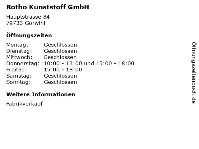 ᐅ Offnungszeiten Rotho Kunststoff Gmbh Hauptstrasse 84 In Gorwihl In 2020 Kunststoff Hauptstrasse Fabrikverkauf