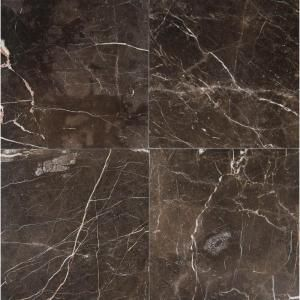 Ms International Frontier Brown 12 In X 12 In Polished Marble Floor And Wall Tile 5 Sq Ft Case Tfrn Polish Marble Floor Marble Floor Natural Stone Tile