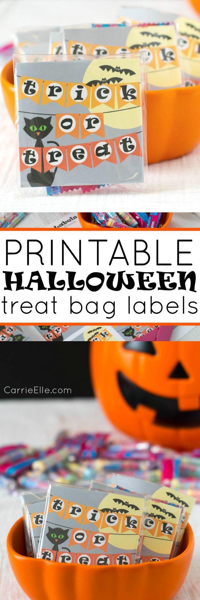 printable halloween treat bag labels