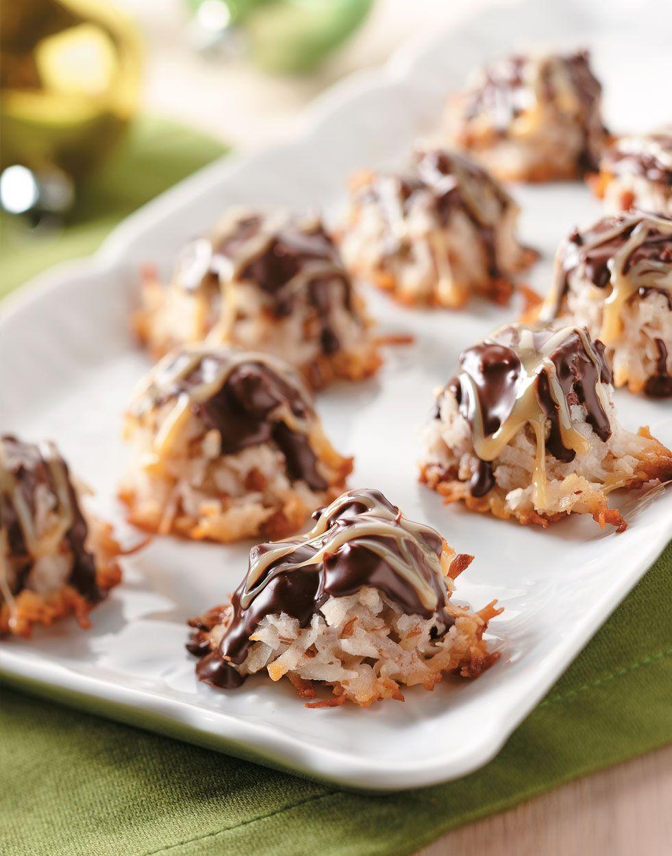 German Chocolate Macaroons