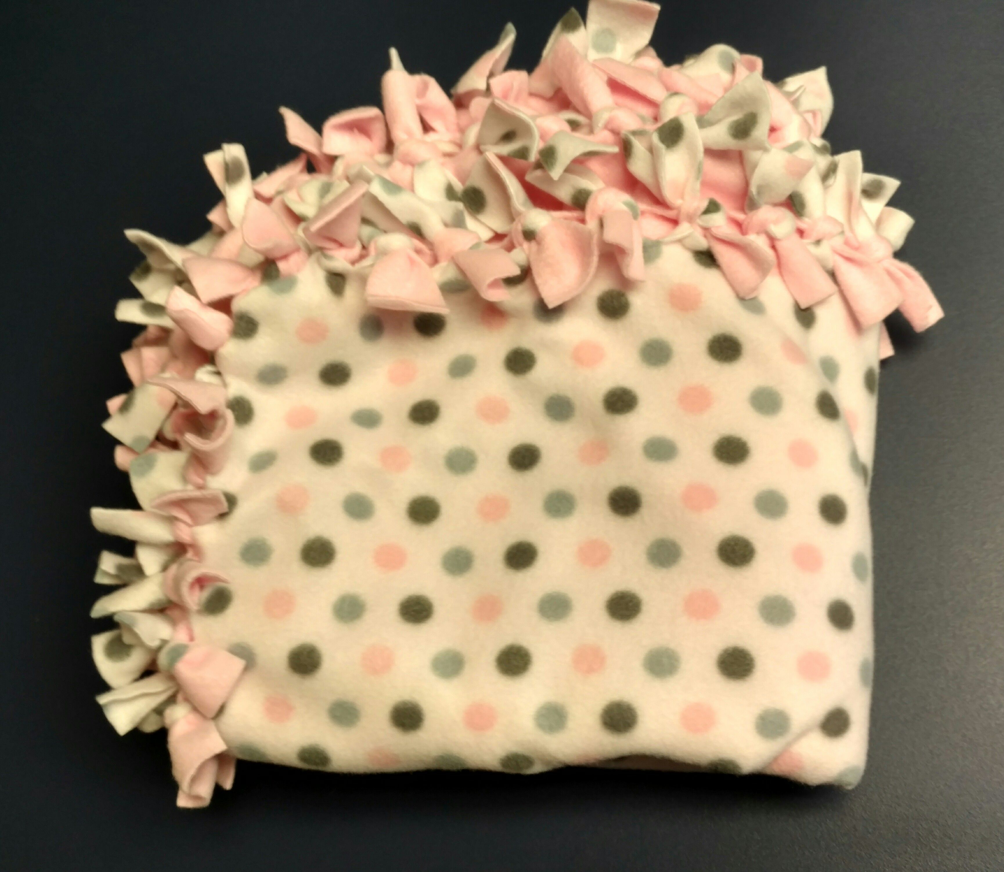 Medium pink polka dot tie blanket blankets pinterest tie