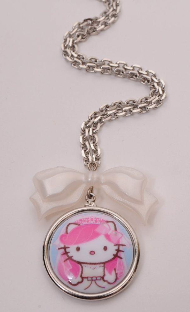 53bf0049b Tarina Tarantino Bridal Pink Head Hello Kitty Bow Charm Cameo Necklace  #TarinaTarantino #Pendant