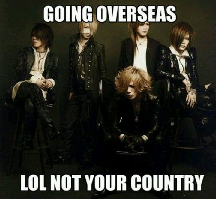 The GazettE. Unfortunately they will probably never come North America. :( Looks like I'm going to Japan to see them.