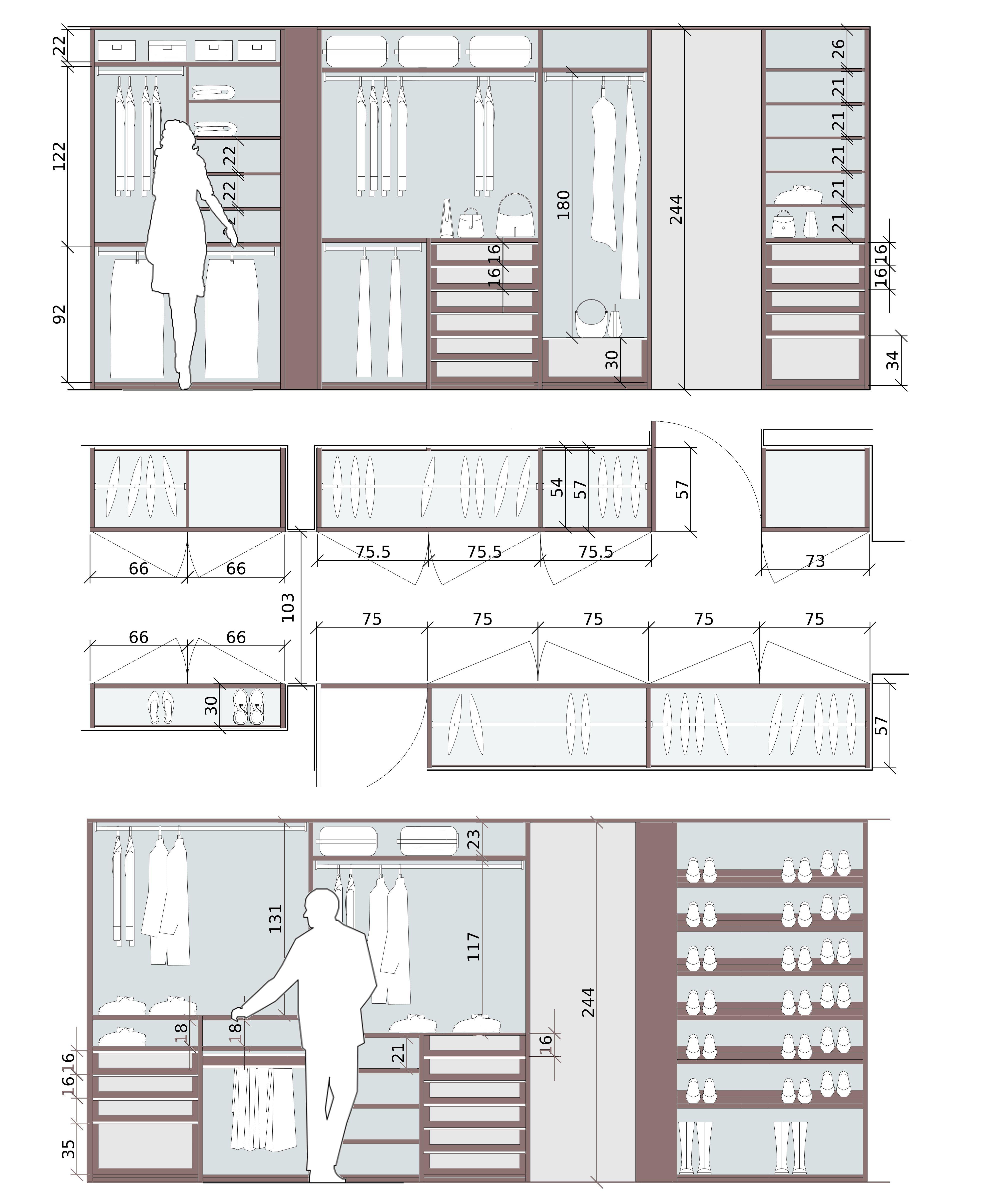 L\'organizzazione di un armadio su misura è funzionale quando ...