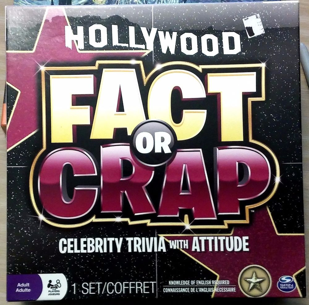 hollywood fact or crap celebrity trivia with attitude 3-8 players
