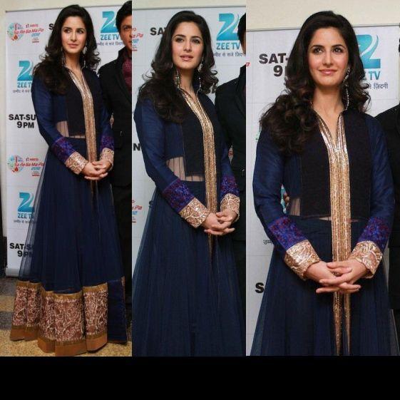 Blue Manish Malhotra Anarkali