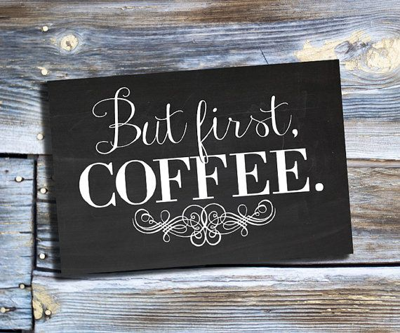 But First Coffee Print Chalkboard Printable Kitchen by dodidoodles