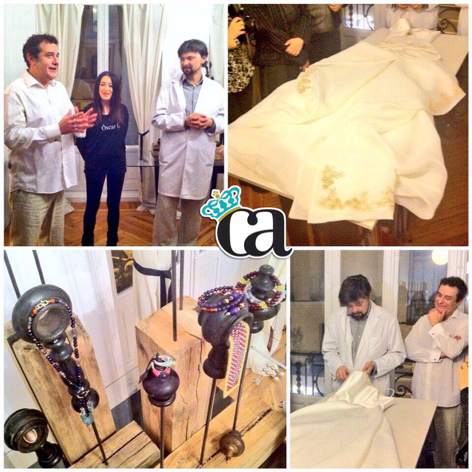 Descubriendo las joyas @THINKOJ de @MarcosGaraban y sus vestidos de novia en los #EncuentrosBazar cn @Carmen Hummer @Galandena  @kingdomforfashion @dos en #ArnyFashion #elArmariodeArnelas