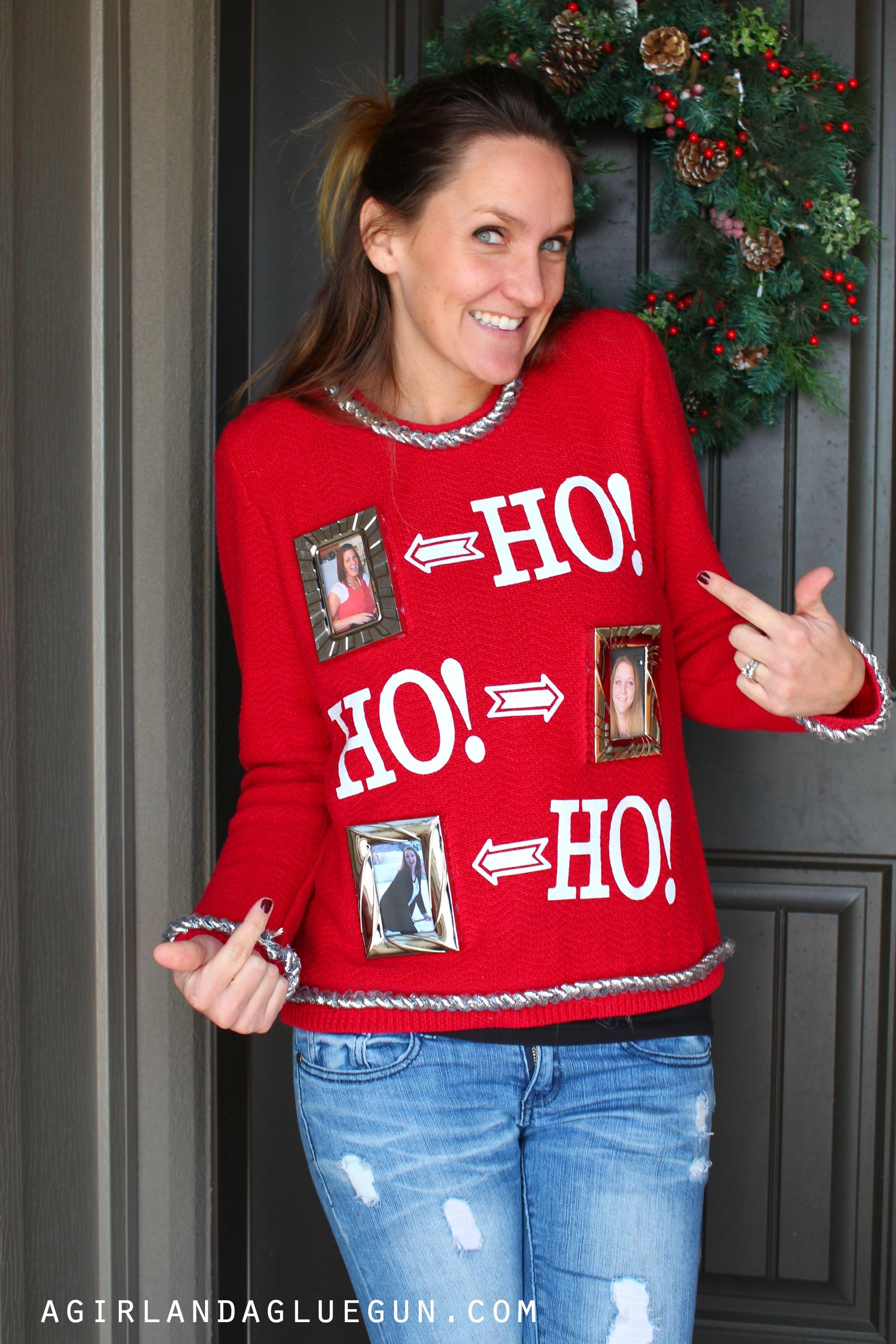 Easy Ugly Sweater Holidays Diy Ugly Christmas Sweater Christmas