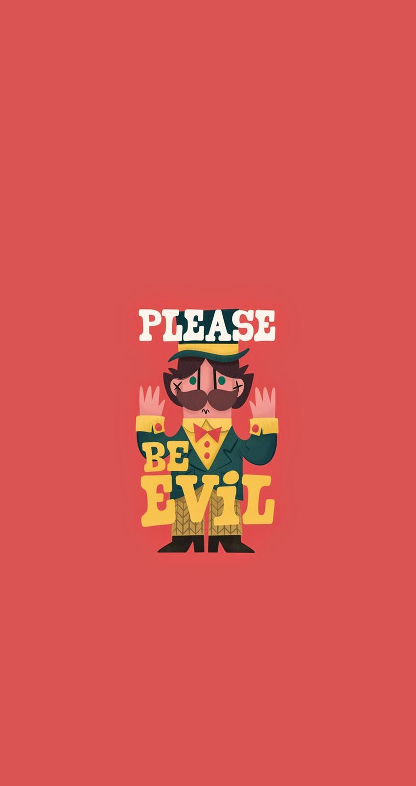 please be evil. tap image for more cartoon wallpapers! - @mobile9