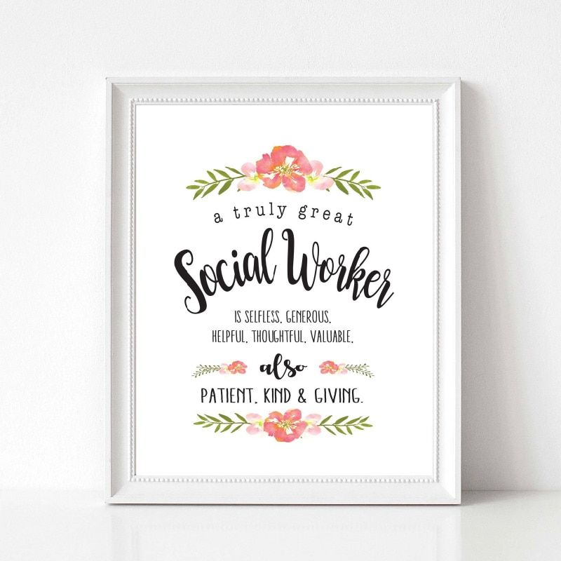 Social Worker Gift Painting Wall Picture A Truly Great Social Worker Quotes Art Canvas Print Poster Office Wall Art Decor Office Wall Art Social Worker Quotes Wall Art Quotes