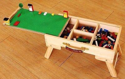 Lego Storage Play Table Folding Custom Made Wooden Chalkboard Kids Children  SFLT