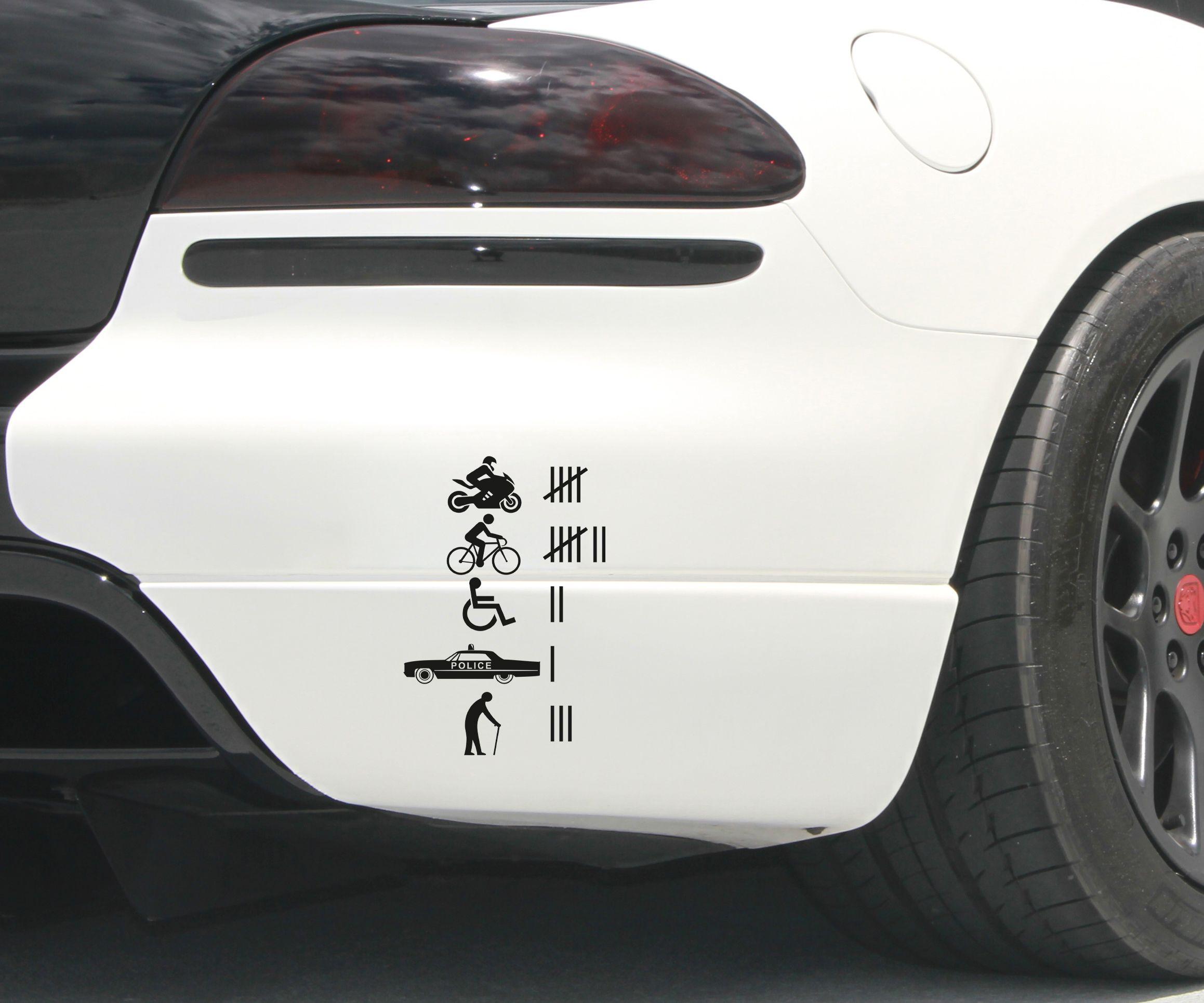 Car window sticker designs - Joke Accident Count Funny Prank Hit Jdm Hoonigan Car Window Vinyl Sticker Decal