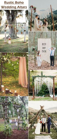 25 chic and easy rustic wedding arch ideas for diy brides wedding simple rustic boho wedding arch decoration ideas junglespirit Image collections