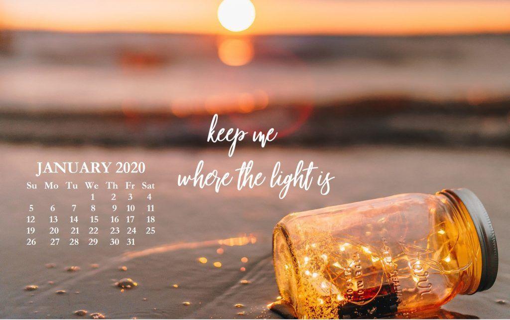 January 2020 Desktop Wallpaper Design In 2020 Mac