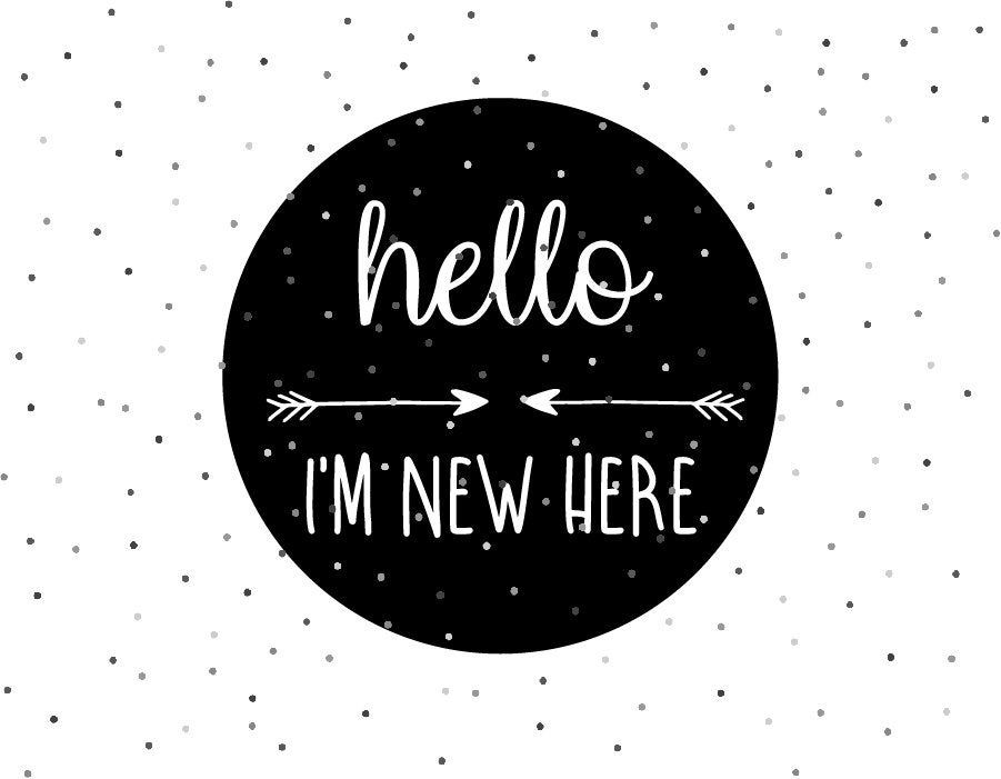 Download Hello I'm New Here / SVG / Instant Download, Cricut and ...
