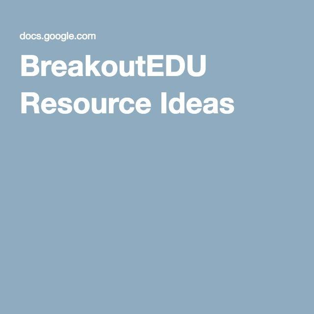 Breakoutedu Resource Ideas Breakout Edu Breakout Boxes Escape