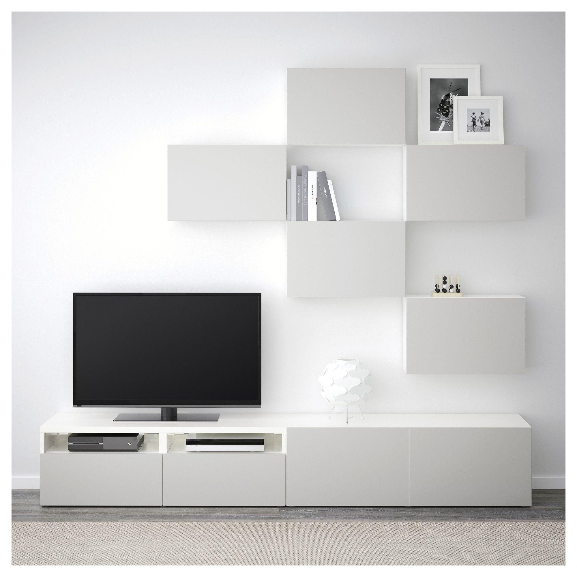 Ikea Bestå Tv Storage Combination White Lappviken Light