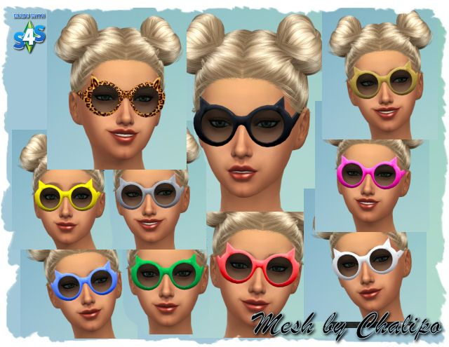Cat Sunglasses by Chalipo at All 4 Sims • Sims 4 Updates