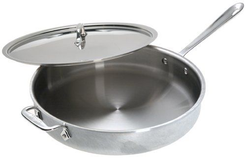 All Clad Master Chef 2 6 Quart Saute Pan By All Clad 264 95 Lifetime Warranty Against Defects Stainless Steel Interior Saute Pan Masterchef Pure Products All clad 6 quart saute pan