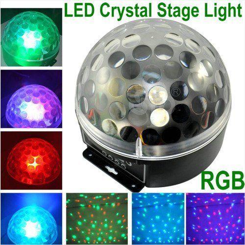 Tsss Mini Led Rgb Crystal Magic Ball Effect Light Dmx Disco Dj Stage Lighting For Xmas Home Dance P Crystal Magic Ball Magic Ball Light Led Crystal Magic Ball