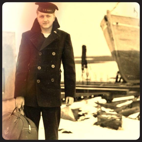 NAVAL CLOTHING FACTORY Jackets &amp Coats - VINTAGE US NAVY PEACOAT