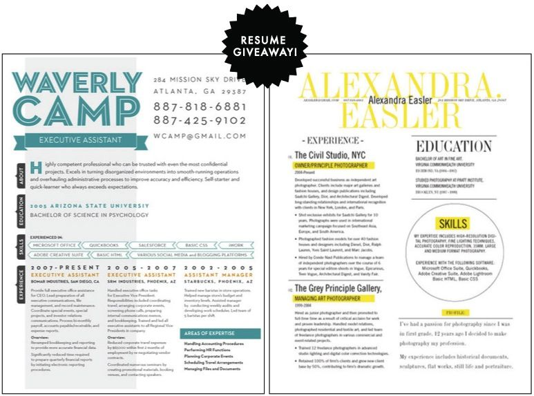 very cool resume look design Pinterest Resume ideas and Fonts