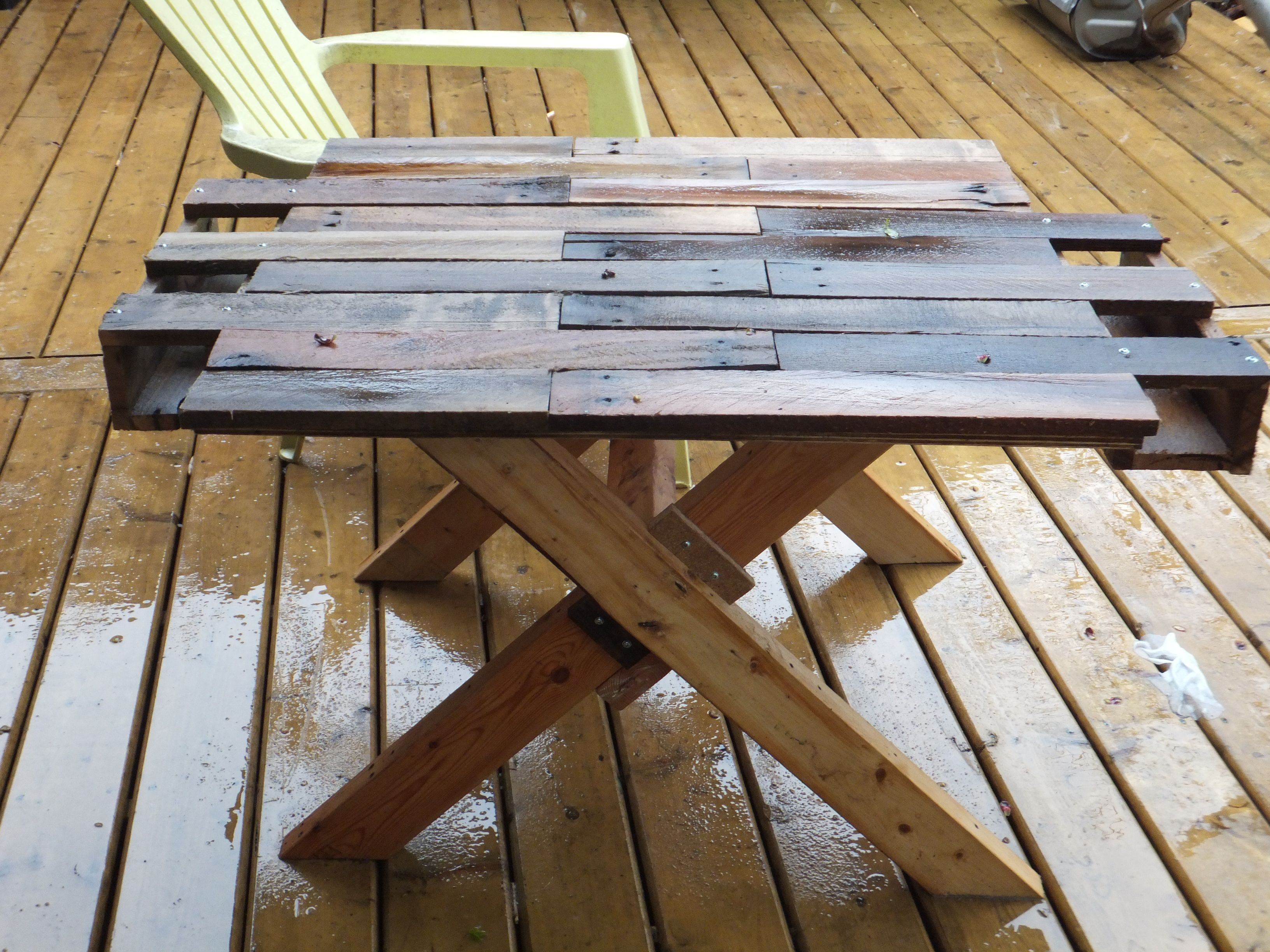 Easy Make Diy Pallet Table Cup Holders Used