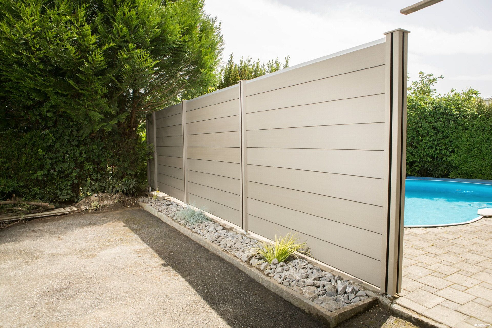 high quality of wpc fence from plastic posite wood