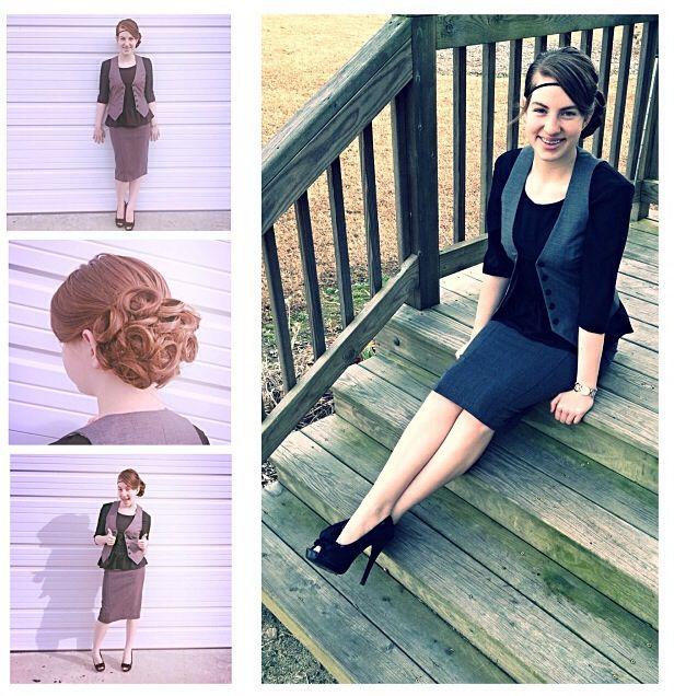 Pentecostal fashion.  A simple black, and grey combination. (:  By MaRaya Batts