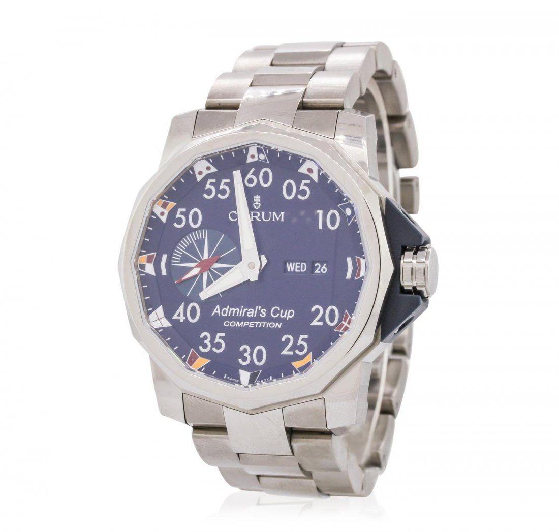 Gents Stainless Steel Corum Admirals Cup Wristwatch - Sold $3,500