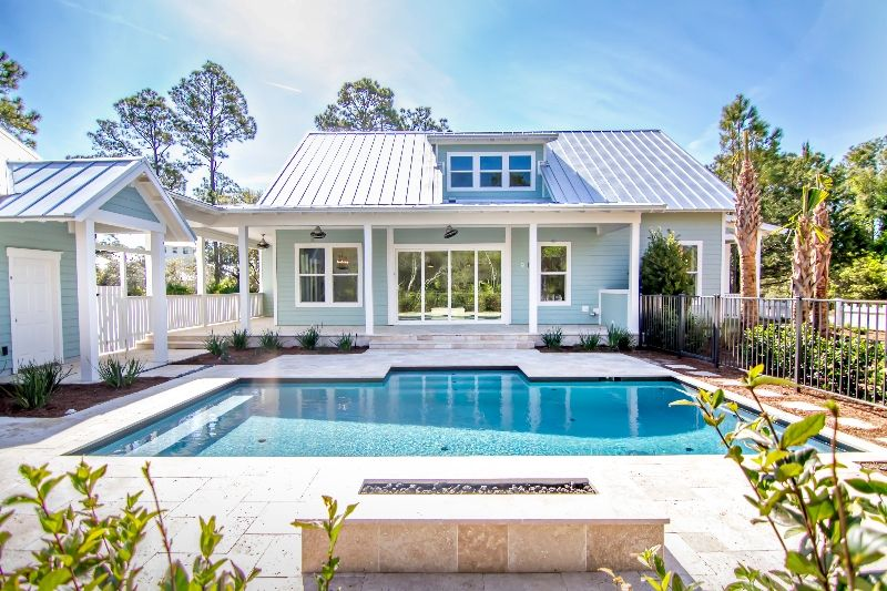 Exteriors small yard pool designs coastal pool design for Pool design jacksonville fl