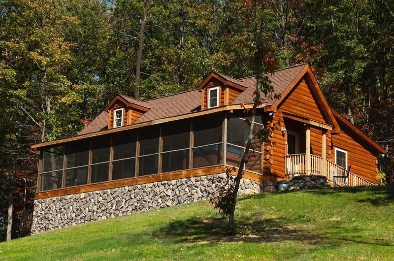 Rental property kalmia cabin shenandoah valley for Vacation log homes