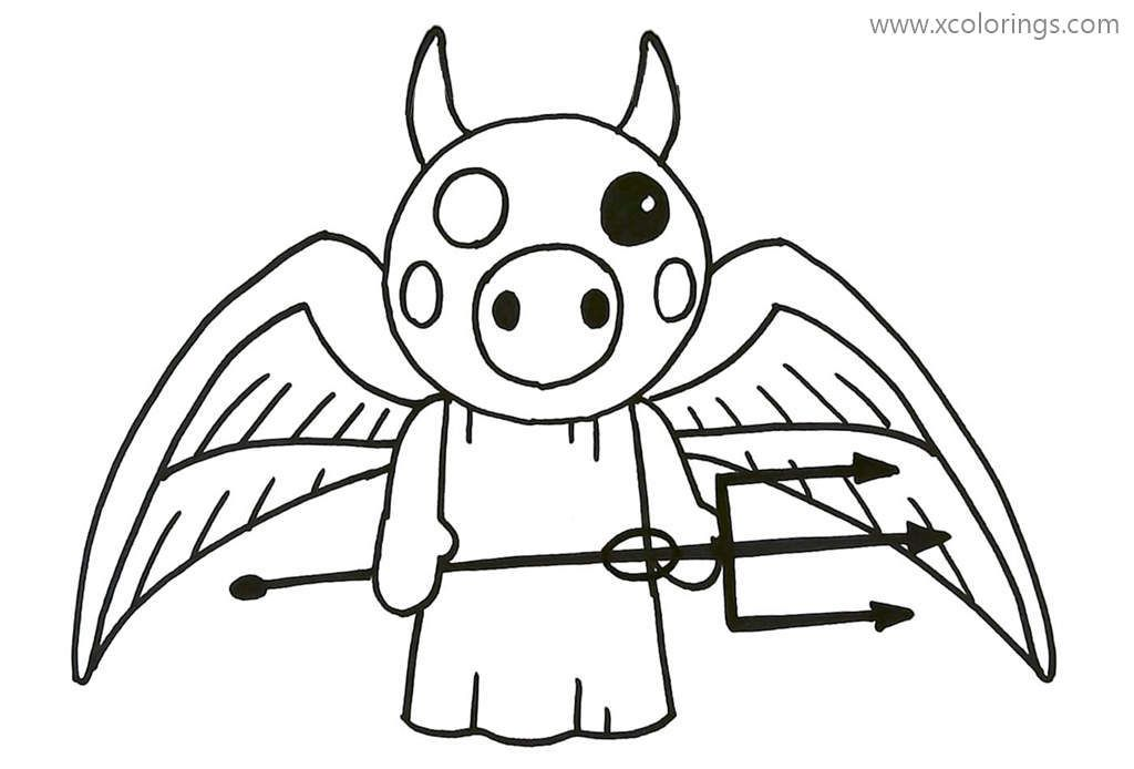 Demon From Piggy Roblox Coloring Pages Cartoon Coloring Pages Coloring Pages Piggy