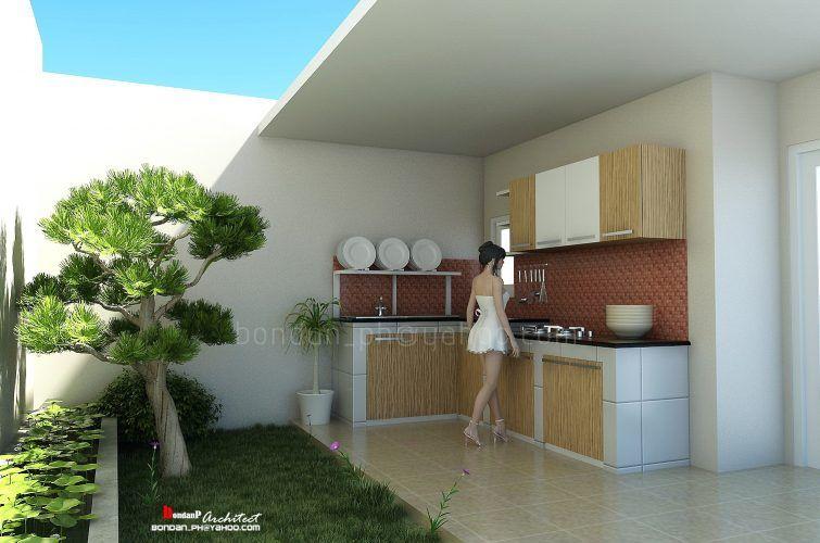20 Desain Dapur Terbuka Di Halaman Belakang Denah Desain Rumah