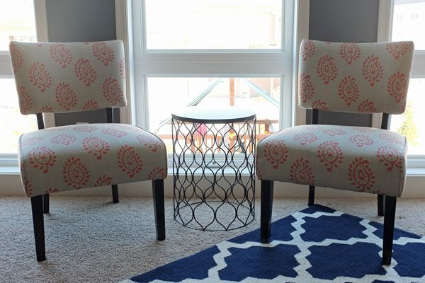 DIY Upholstered Slipper Chairs with Velvet Drapery ...