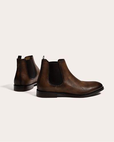 Chaussures Cuir Marron Homme En Bottes Bottines Zara Et xvBqpwnX