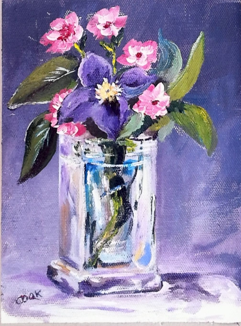 Glass vase with purple flower this is video tutorial is now in purple flower in glass vase acrylic painting lessons for beginners to advanced artists reviewsmspy