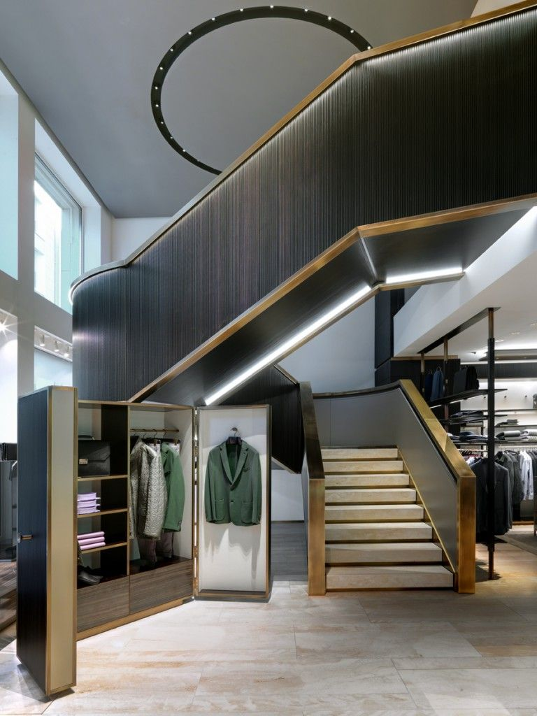 Best Brioni Flagship Store Milano Staircase Design Stairs 640 x 480