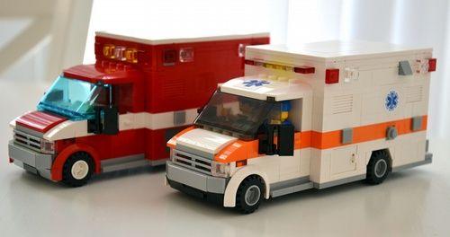 american ambulance a lego